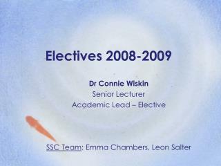 Electives 2008-2009