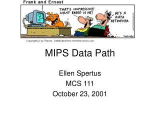 MIPS Data Path