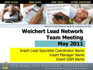 Weichert Lead Network  Team Meeting May 2011