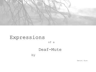 Expressions  				of a  Deaf-Mute by Daniel Xiao