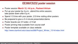 EE368/CS232  poster session