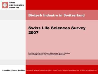 Biotech Industry in Switzerland