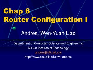 Chap 6 Router Configuration I