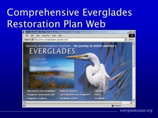 Comprehensive Everglades Restoration Plan Web
