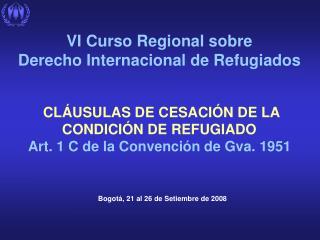 Bogot á , 21 al 26 de Setiembre de 2008