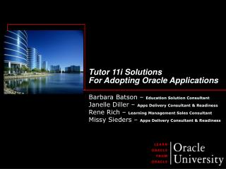 Tutor 11i Solutions  For Adopting Oracle Applications