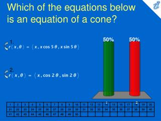 Which of the equations below is an equation of a cone?