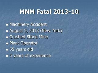 MNM Fatal 2013-10