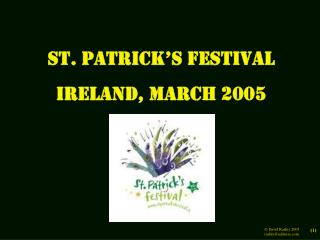 St. Patrick's Festival Ireland, March 2005