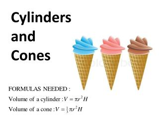 Cylinders a nd Cones