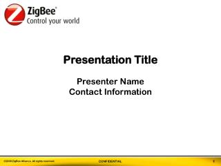 Presentation Title Presenter Name Contact Information