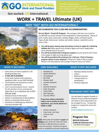 WORK + TRAVEL Ultimate (UK)
