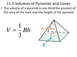 11.5 Volumes of Pyramids and Cones