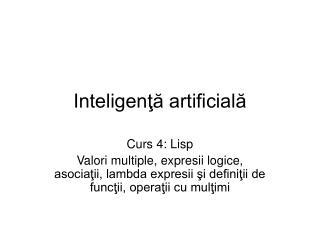 Inteligenţă artificială