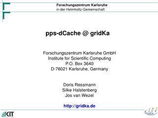 pps-dCache @ gridKa