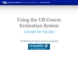 Using the UB Course Evaluation System