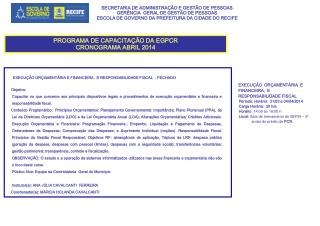 SECRETARIA DE ADMINISTRAÇÃO E GESTÃO DE PESSOAS GERÊNCIA  GERAL DE GESTÃO DE PESSOAS