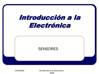 Introducci�n a la Electr�nica