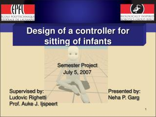 Design of a controller for sitting of infants