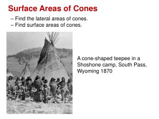 Surface Areas of Cones