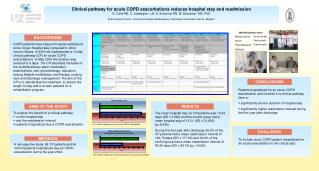 Clinical pathway for acute COPD exacerbations reduces hospital stay and readmission