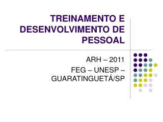 TREINAMENTO E DESENVOLVIMENTO DE PESSOAL