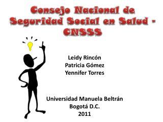 Consejo Nacional de Seguridad Social en Salud - CNSSS