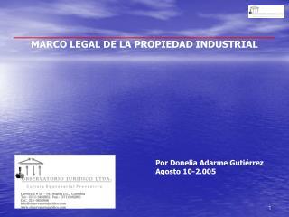 MARCO LEGAL DE LA PROPIEDAD INDUSTRIAL
