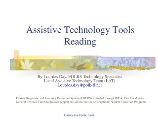 Assistive Technology Tools Reading