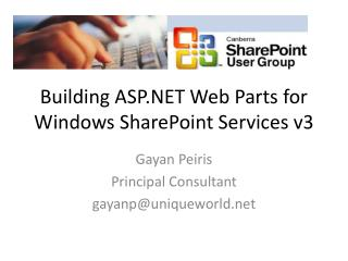 Building ASP.NET Web Parts for Windows SharePoint Services v3