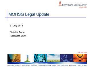 MOHSG Legal Update