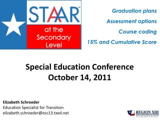 Special Education Conference October 14, 2011