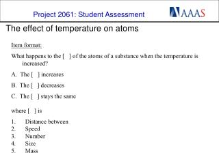 The effect of temperature on atoms
