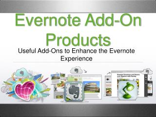 Evernote Add-On Products