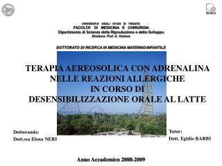 Dottoranda: Dott.ssa Elena NERI