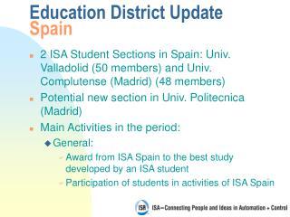 Education District Update Spain