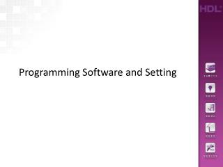 Programming Software and Setting