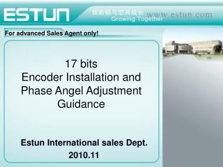 17 bits  Encoder Installation and Phase Angel Adjustment Guidance