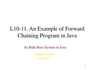 L10-11. An Example of Forward Chaining Program in Java