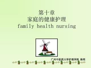 第十章  家庭的健康护理 family health nursing