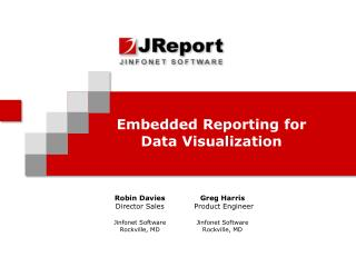 Embedded Reporting for Data Visualization