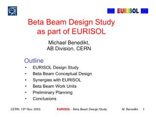 Beta Beam Design Study  as part of EURISOL