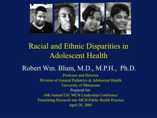 Racial and Ethnic Disparities in Adolescent Health