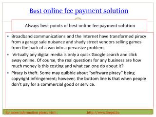 Outstanding Features About best online fee payment solution