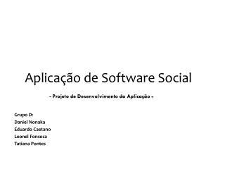 Aplicação de Software Social