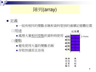 陣列 (array)