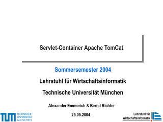 Servlet-Container Apache TomCat