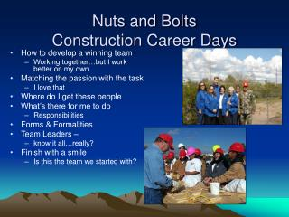 Nuts and Bolts Construction Career Days