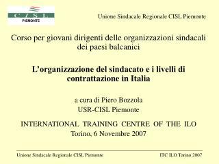 Corso per giovani dirigenti delle organizzazioni sindacali dei paesi balcanici