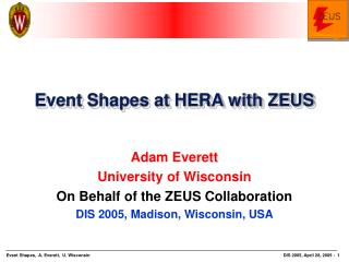 Event Shapes at HERA with ZEUS